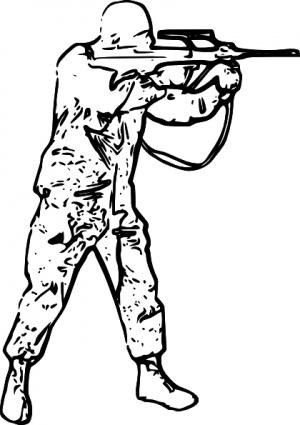 Soldier Silhouette Clip Art Clipart Panda