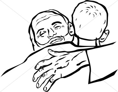 Mother Hugging Child Coloring Page