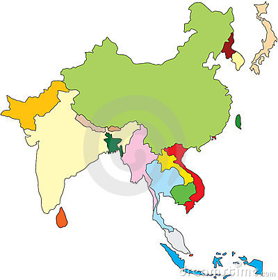- Asia Panda East Free Images Map Royalty South Clipart