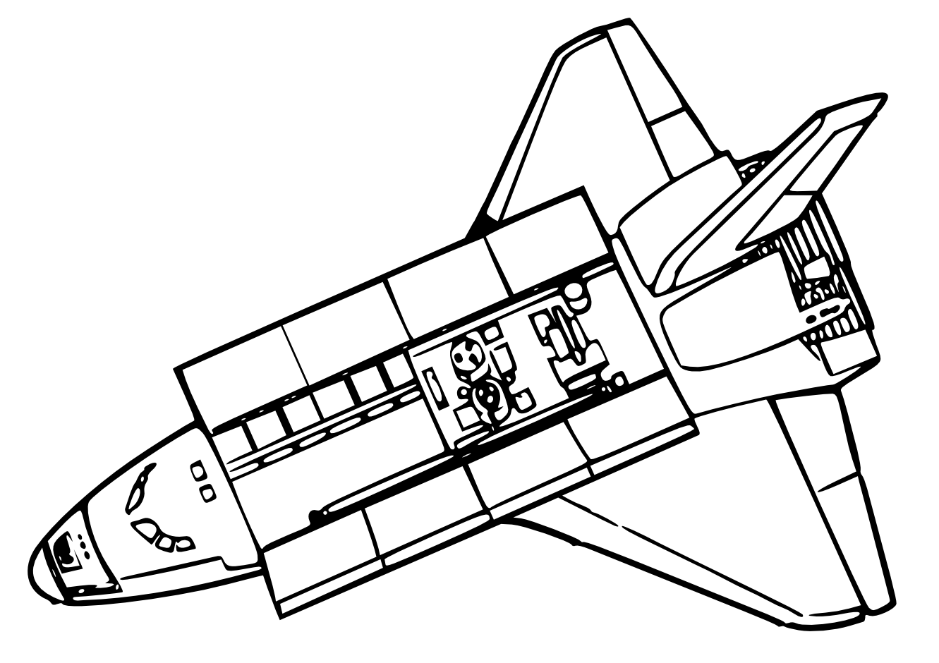 Space Shuttle Coloring Space Shuttle Clip Art