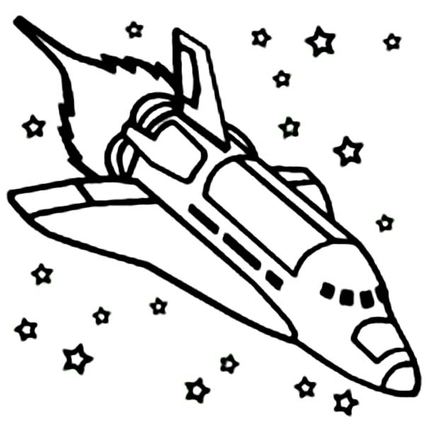 Space shuttle coloring pages clipart panda free for Rocket coloring page