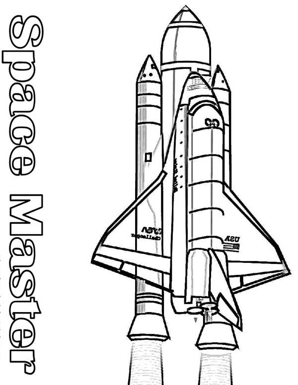 space shuttle coloring pages