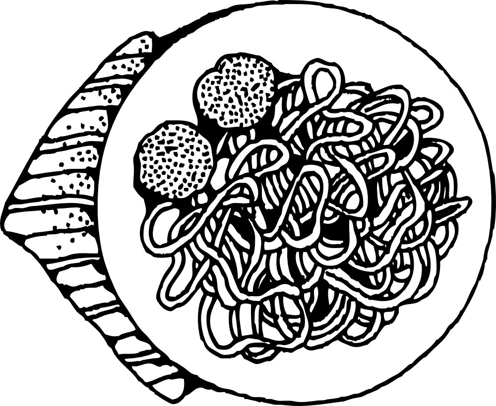 Spaghetti Clipart Black And White | Clipart Panda - Free ...