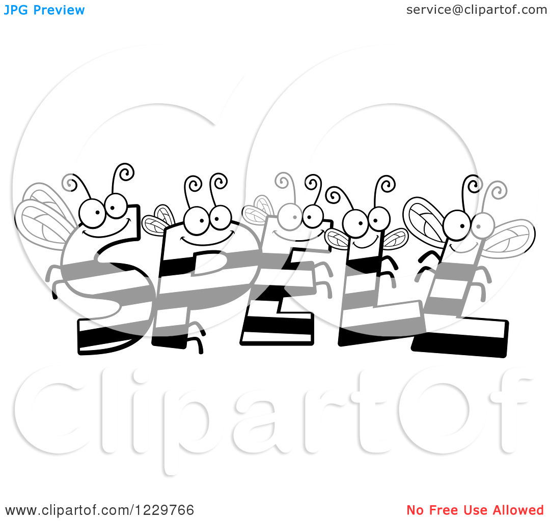 spelling%20bee%20clipart%20black%20and%20white