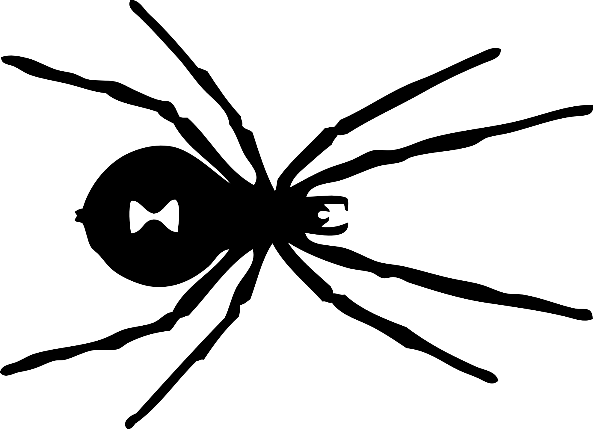 Spider Clipart Black And White | Wallpapers Gallery