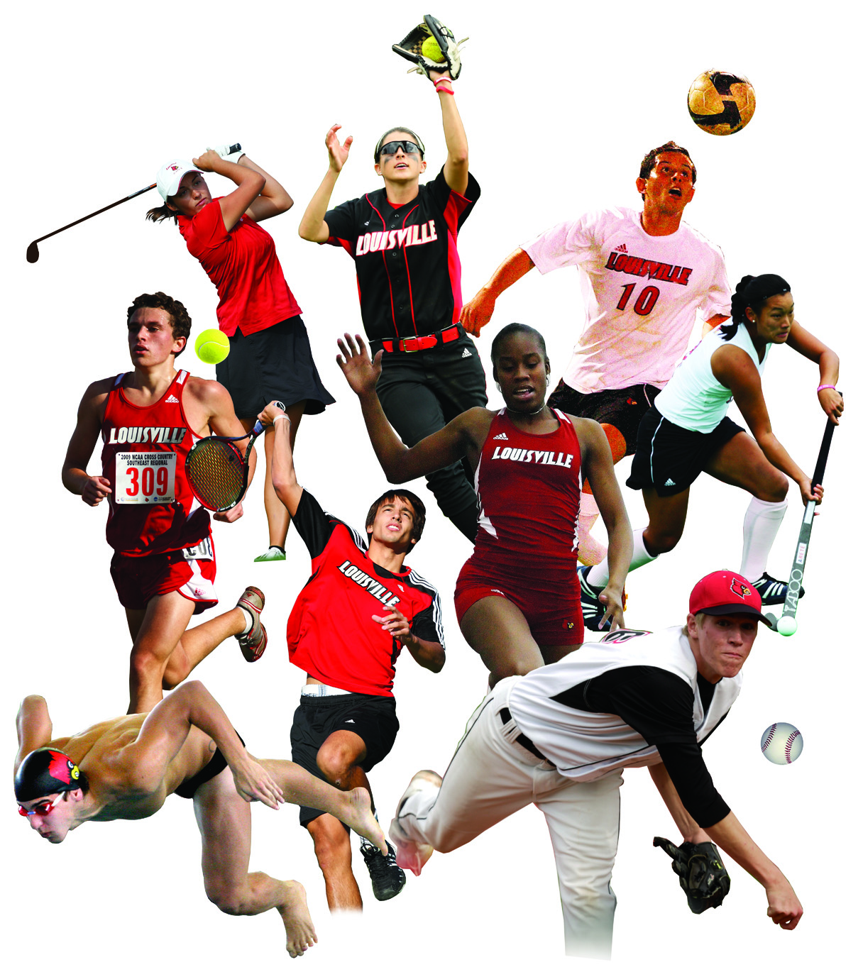 sports collage balls clipart sport playing panda sporting