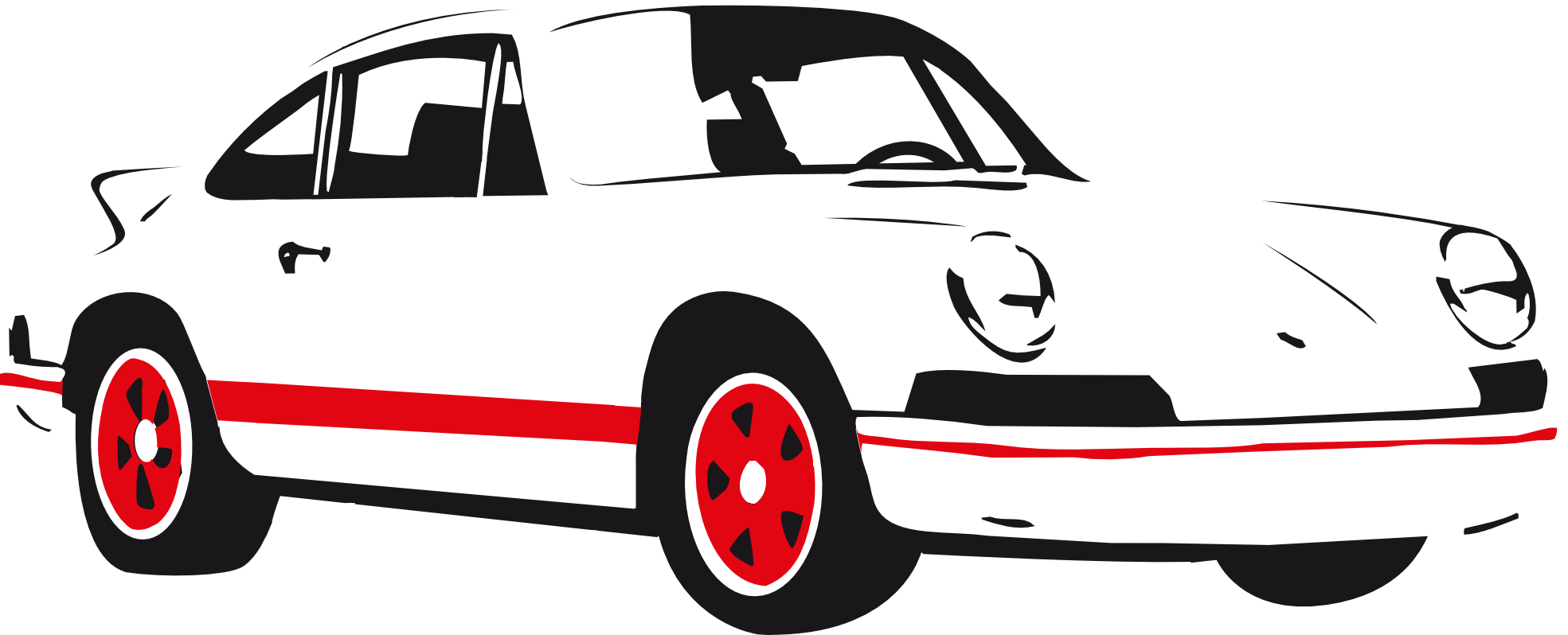 Sports car outline png 5