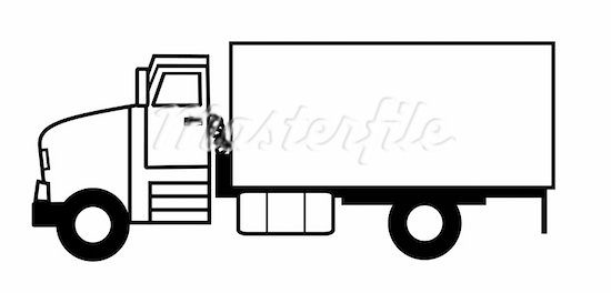 Clip Art Black And White Semi Trucks for Pinterest