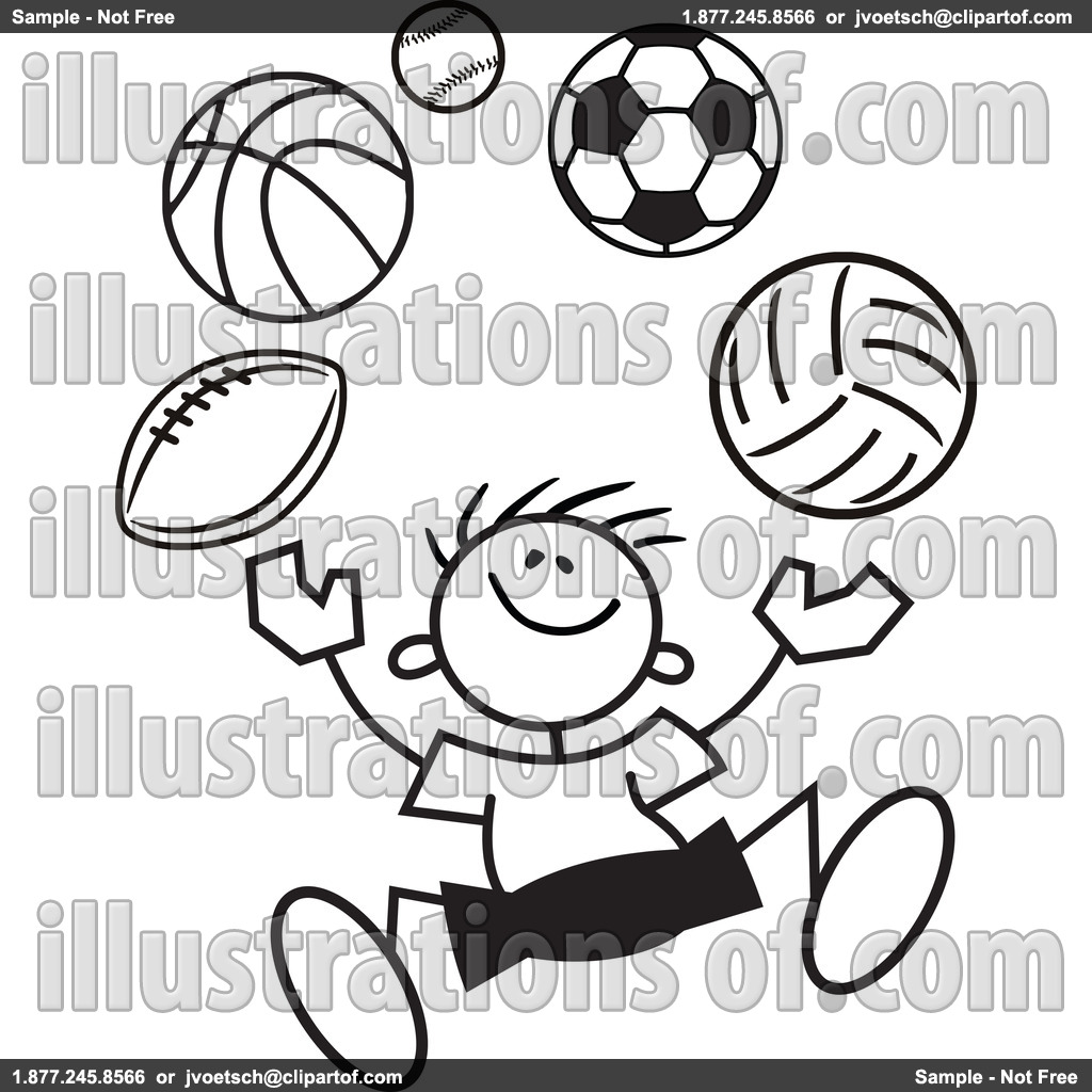 sports%20clipart%20black%20and%20white