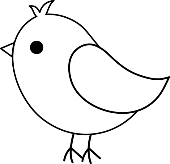 Line Art Birds : Clipart bird black and white panda free