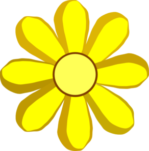 spring clipart Yellow Flowers Clip Art Border
