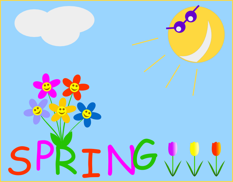 spring dog clipart - photo #39