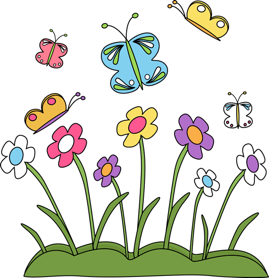 Spring Flowers and ButterfliesFlower And Butterfly Border Clip Art