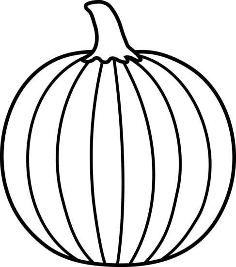 Pumpkin Outline Clipart Black And White | Clipart Panda ...