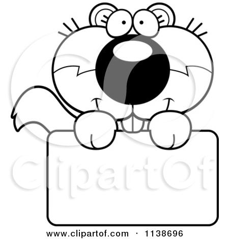 Cute Squirrel Clipart Black And White