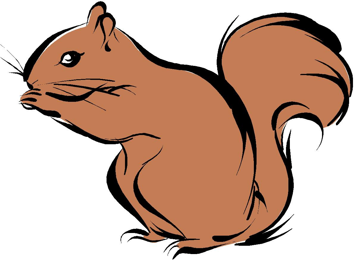 Blind Squirrel Clip Art