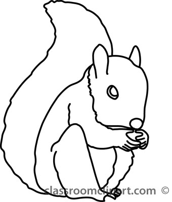 Squirrel Clipart Black And White | Clipart Panda - Free ...