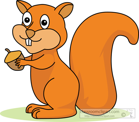 squirrel clip art on the tree � cliparts