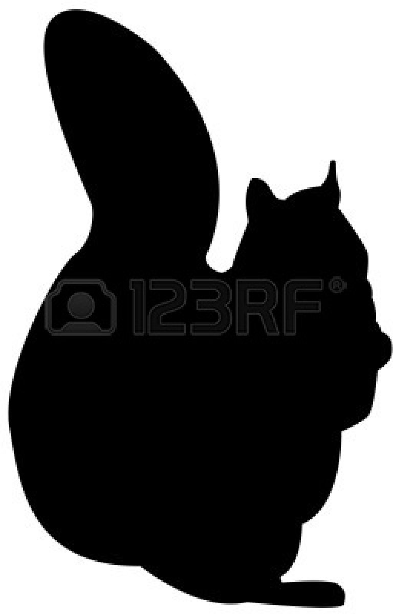 squirrel silhouette vector  clipart panda  free clipart images - squirrelsilhouette