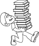 Stack Of Books Clip Art Black And White | Clipart Panda - Free Clipart ...