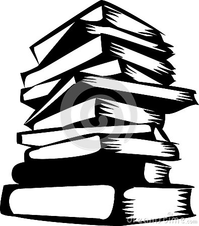 stack%20of%20books%20clipart%20black%20and%20white