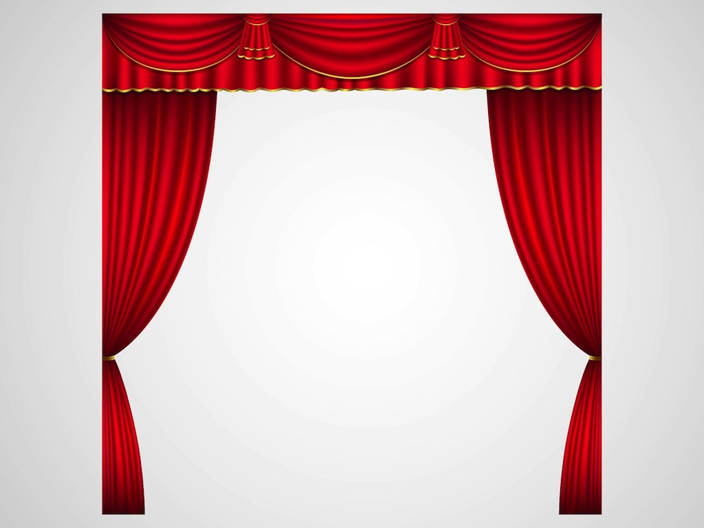 Real open stage curtains - Stage 20clipart