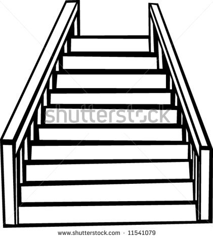 Clipart Man Climbing Stairs
