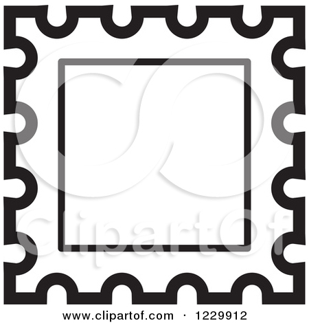 Postage Stamp Clip Art Black And White Stamp Clip Art Free | ...