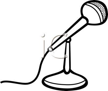 Microphone Clip Art Black And White | Clipart Panda - Free ...  Microphone Clipart Black And White
