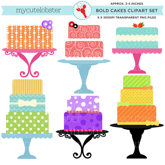 Whimsical Vector Cake Stand