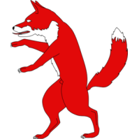 Fox standing. Red clipart panda free