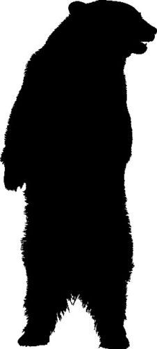 Standing Grizzly Bear Silhouette | www.pixshark.com ...