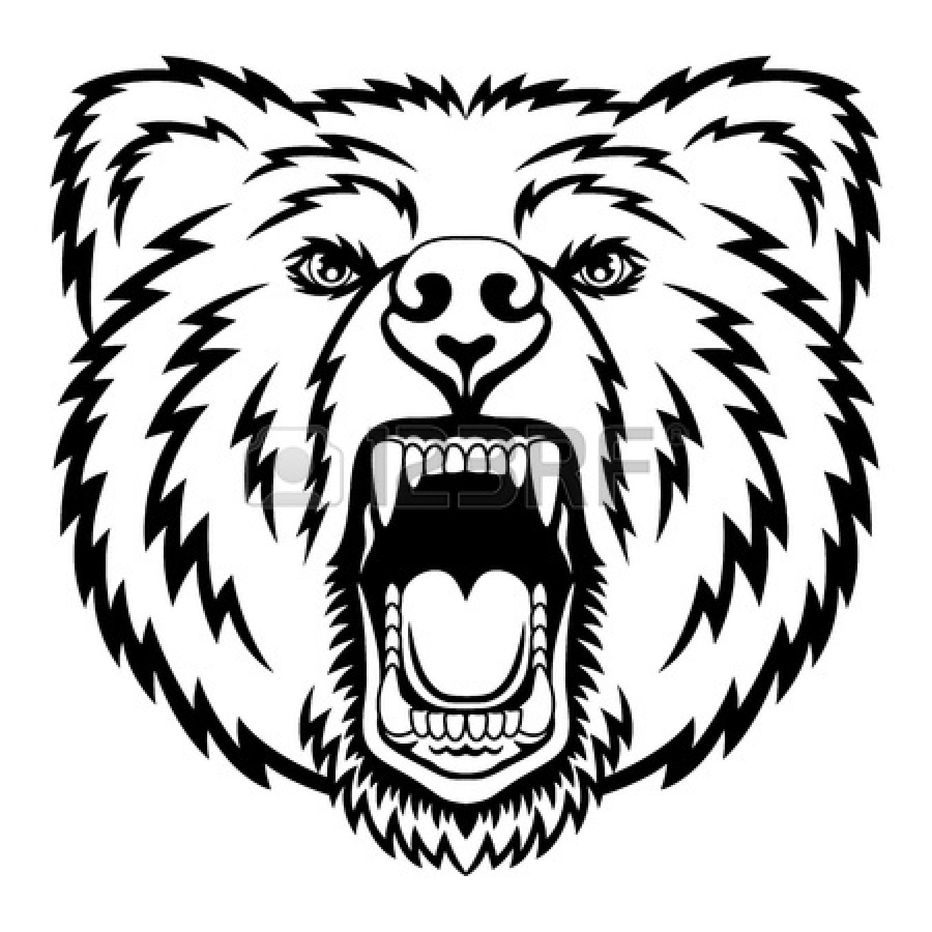 Standing Black Bear Drawing | Clipart Panda - Free Clipart ... Bear Face Drawing