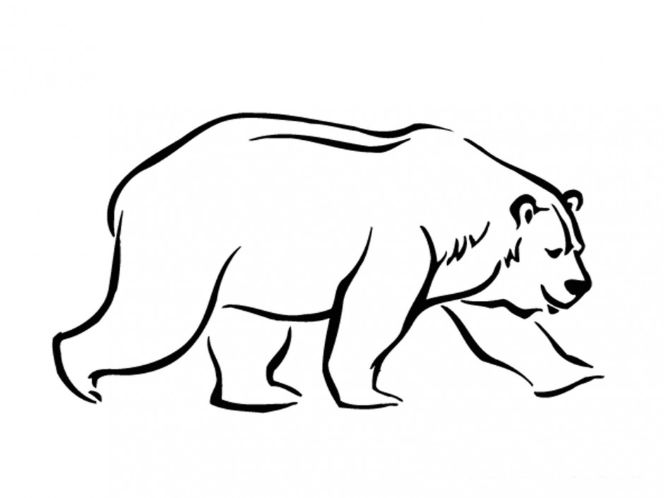 Line Art Bear : Standing black bear drawing clipart panda free