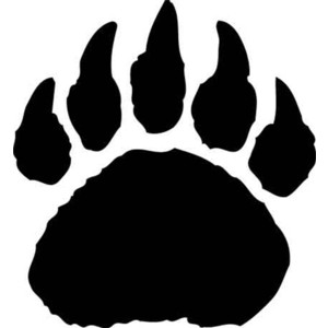 Standing black bear drawing clipart panda free clipart for Bear footprints template