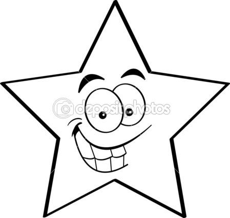 Star Cartoon Drawing Star Cartoon Black And