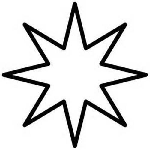 black and white star clip art - photo #39