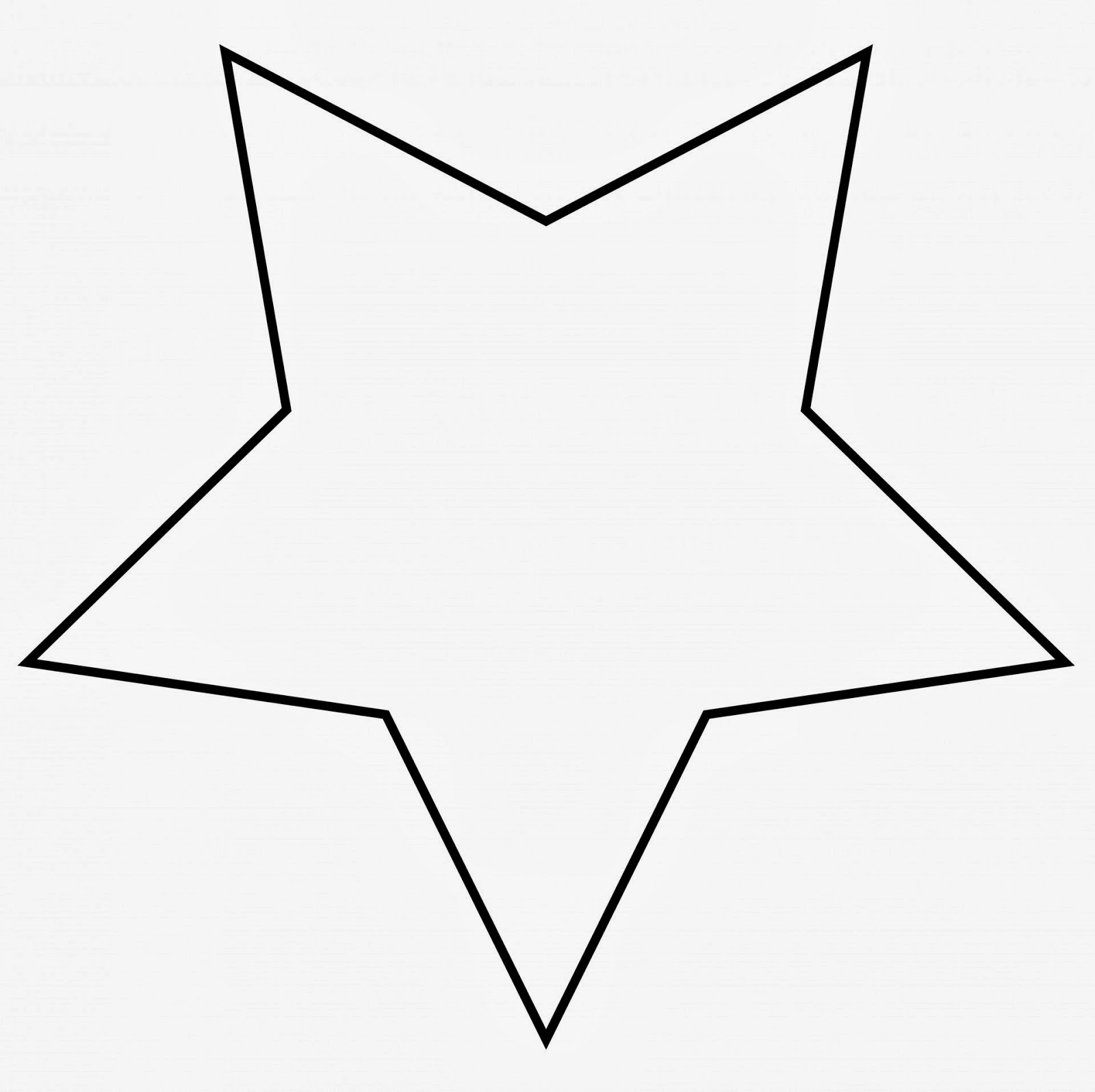 Star clip art outline clipart panda free clipart images for Star template free