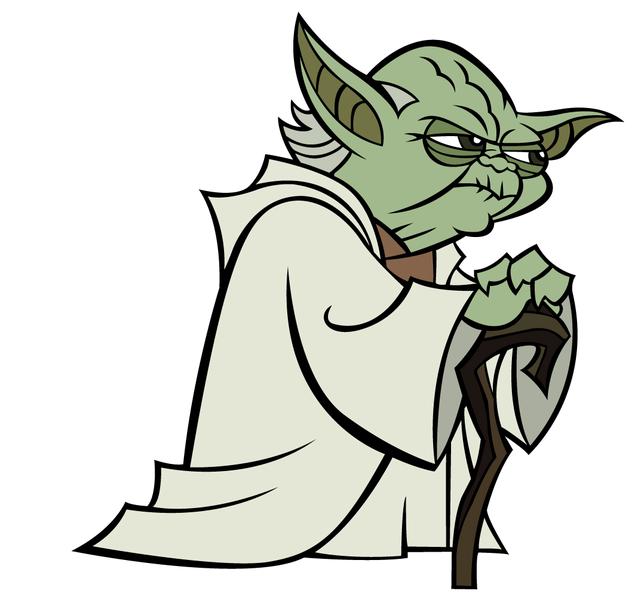 Line Art Yoda : Yoda star war space cartoon clipart panda free