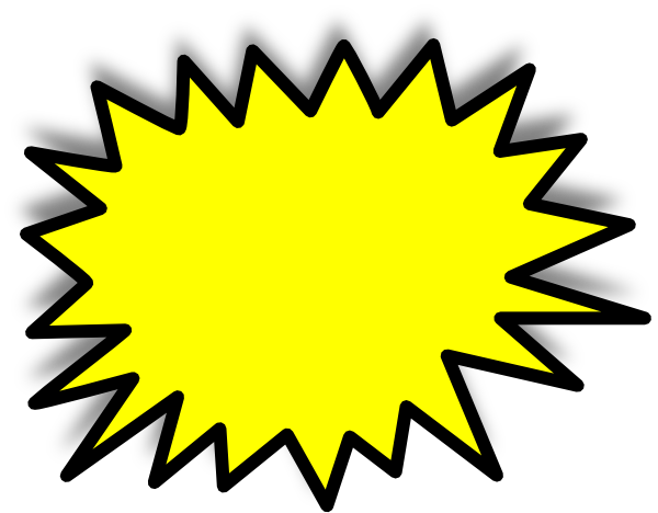 yellow starburst clipart - photo #6