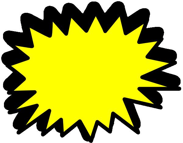 yellow starburst clipart - photo #6