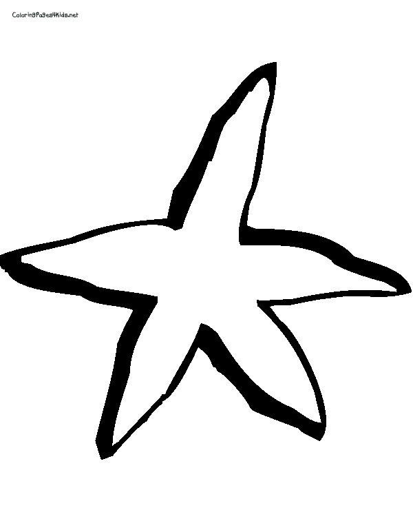 starfish coloring pages for tracing - photo#30