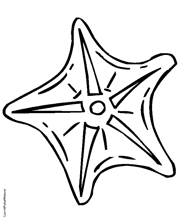 Cute starfish coloring page