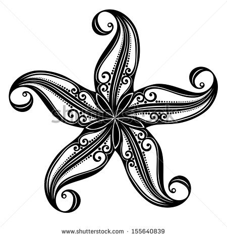 starfish black and white drawing clipart panda free clipart images. Black Bedroom Furniture Sets. Home Design Ideas