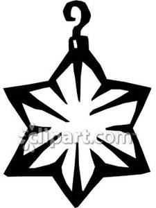 christmas star clip art black and white - photo #34