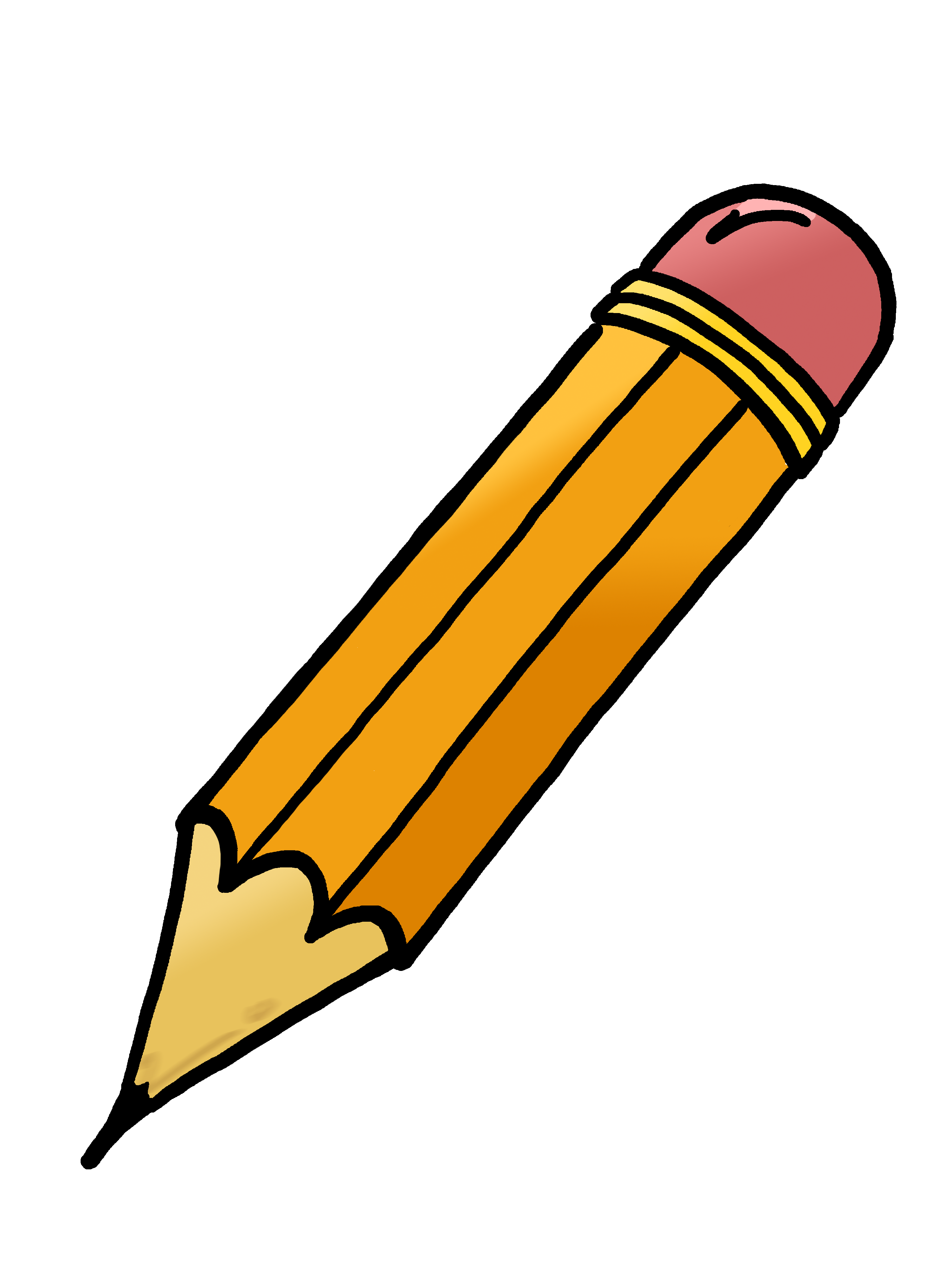 Pencil Clipart Black And White Horizontal