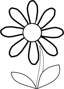 Flower black and white daisy. Clipart panda free images