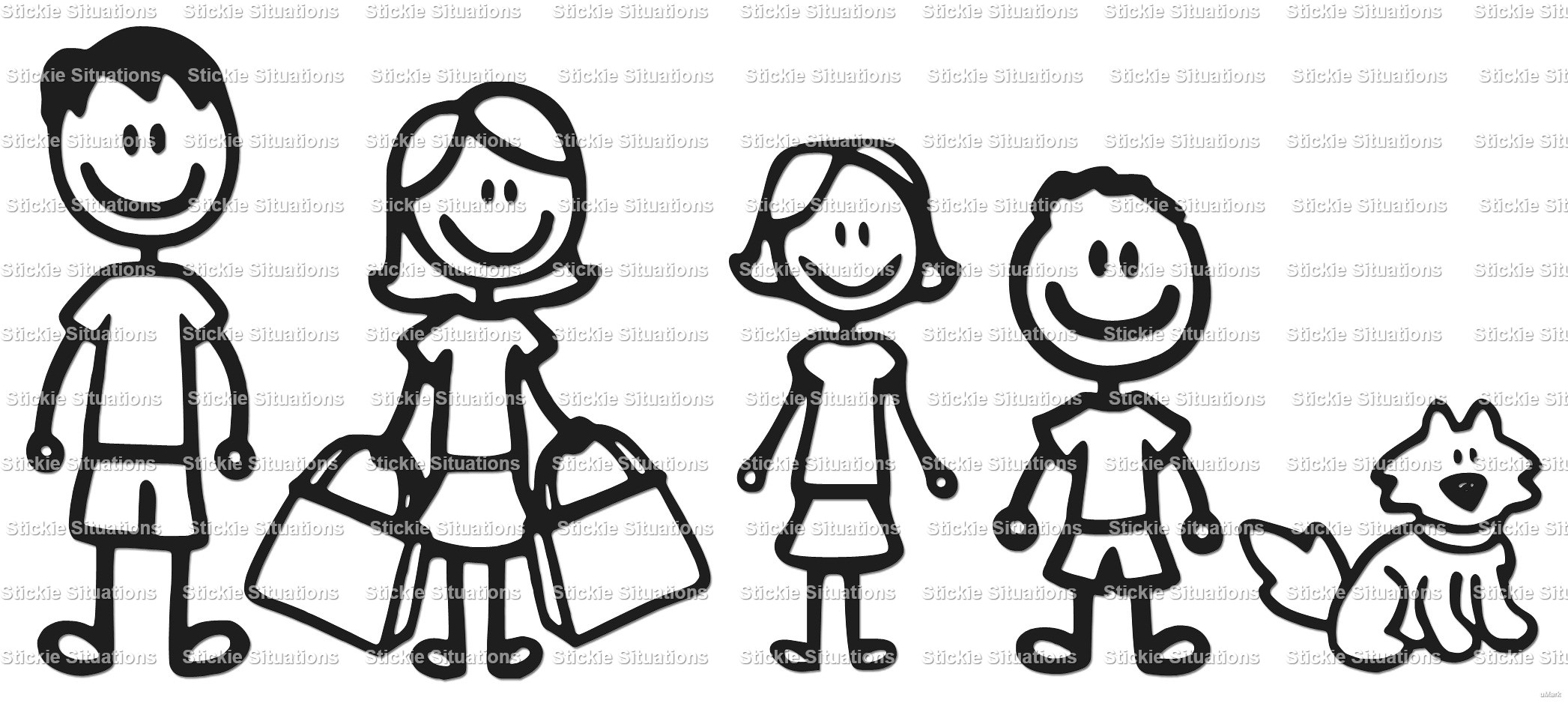 stick family car decal clipart panda free clipart images rh clipartpanda com stick figure family clipart Stick Figure Family of 5