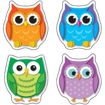 colorful owls shape stickers  clipart panda free free owl border clip art Owl School Clip Art