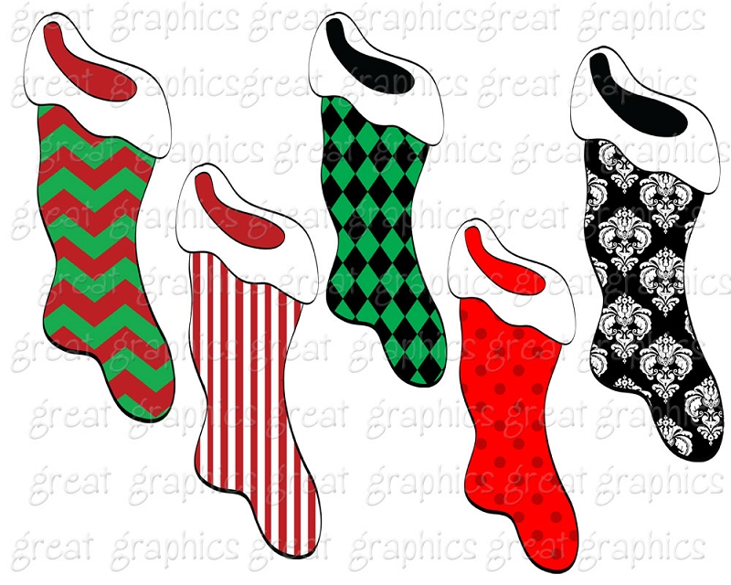 Stocking clipart: stocking clip art